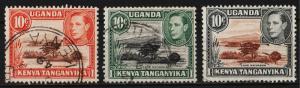 Kenya, Uganda, Tanganyika 1938 George VI / Various Designs $10 (3/20) USED