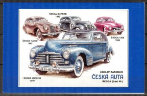 Czech Republic 2015 Classic Cars Skoda Booklet MNH 2 scans