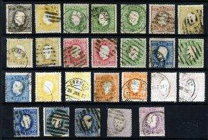 PORTUGAL 1870-84 King Luis Straight Label Set Perf. 12½ SG 69 to SG 100 VFU