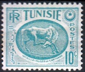 Tunisia, SW379, MNH,1950, Horses, (AA01554)
