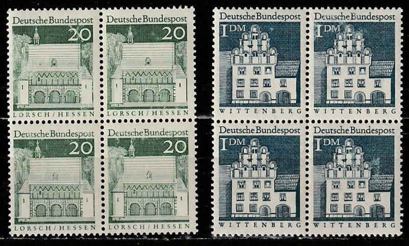 #939,948 Germany Mint OGNH Blocks of 4