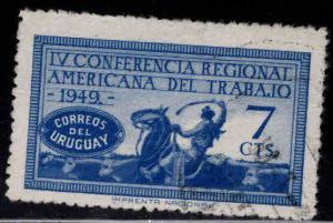 Uruguay Scott 580 used stamp