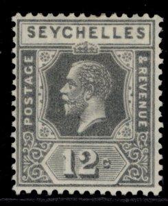 SEYCHELLES GV SG107, 12c grey, M MINT. DIE II