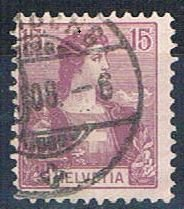 Switzerland 131 Used Helvetia 1907 (HV0073)