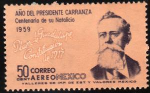 MEXICO C246, 50c Centenary Birth of Pres. Carranza. MINT, NH. VF.