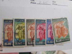 Vietnam (South) #73-78 set used  2020 SCV = $2.65