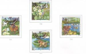 Isle of Man Sc 734-7 1997 Springtime stamp set used