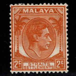 Straits Settlements Scott 239A MH* Die 2, KGVI stamp from 1937-41 set