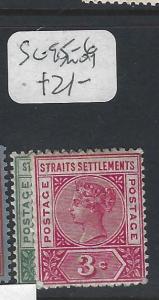 MALAYA STRAITS SETTLEMENTS  (P0502B)  QV  1C, 3C  SG 95-6   MOG