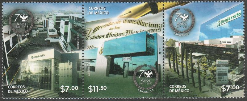 MEXICO 3060, Bank of the Armed Forces. 70th Anniversary. MNH