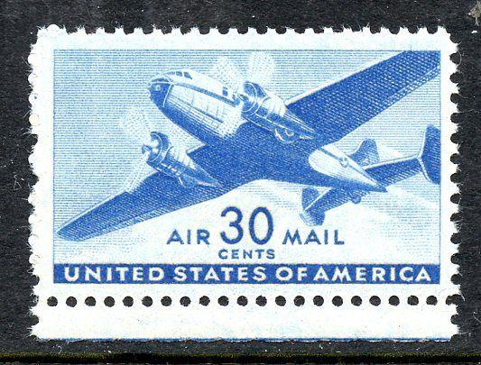U.S. Scott C30 30-Cent Transport Airmail FVF MNH Margin Single