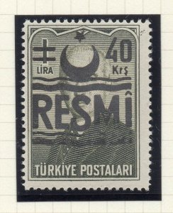 Turkey 1955-57 Early Issue Fine Mint Hinged 40k. Surcharged Resmi Optd NW-18230