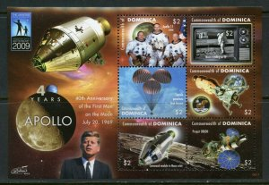 DOMINICA  40th ANNIVERSARY OF THE FIRST MAN ON THE MOON  SHEET MINT NH