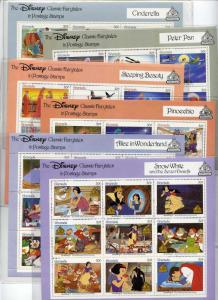 Grenada 1540-5 MNH Disney, Classic Fairytales, Snow White, Peter Pan
