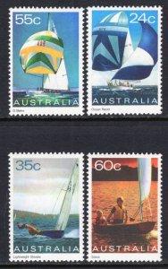Australia 816-819 Sailboats MNH VF