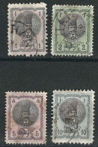 Iran (Persia) 27-30 Used F/VF 1876 SCV $25.50