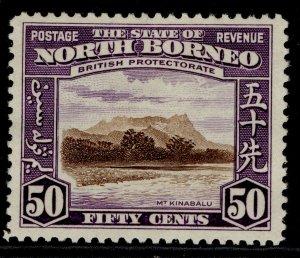 NORTH BORNEO GVI SG314, 50c chocolate & violet, M MINT. Cat £48.