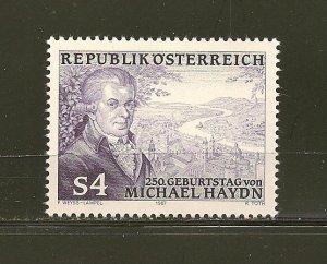 Austria Michael Haydn1987 Issue MNH