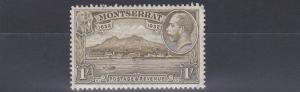 MONTSERRAT  1932  S G 91  1/-    OLIVE BROWN      MH