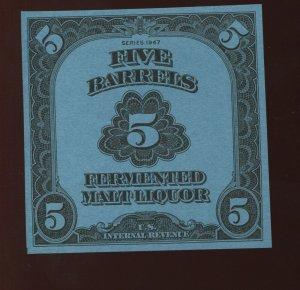 Scott REA194 Fermented Malt Liquor 'BEER' Revenue Unused Stamp (Stock REA194-B3)