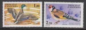 Andorra (French) 340-1 Birds mnh