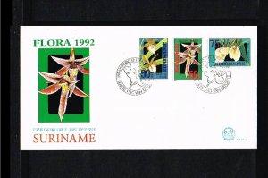 1992 - Rep. Surinam FDC E152A - Flora - Flowers - Orchids [LN020]