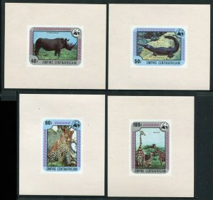 Central African Republic 1978 SC 323-328 Deluxe Sheets WWF Elephant Gorilla