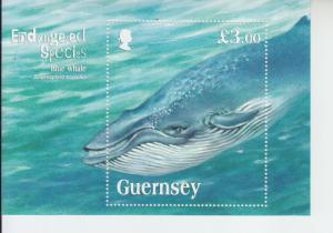 2011 Guernsey Blue Whale SS  (Scott 1124) mnh