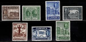 Jamaica Scott 129-135 MH* 1944 New Constitution set