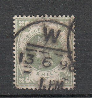 J26252  jlstamps 1887-92 great britain used #122, $ 72.50 scv