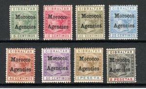 Morocco Agencies 1899 Gibraltar opt set to 2p MH