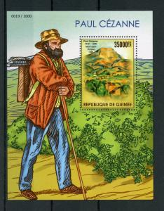 Guinea 2015 MNH Paul Cezanne 1v S/S Art Oil Paintings Mont Saint-Victoire