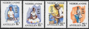 Netherlands Antilles (Curacao) B73-B76 MNH  - Youth at Work