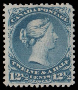 Canada #28, VF+OG NH. Extremely rare LQ unused and OG single. VGG 2014.