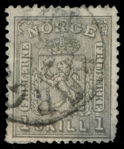 Norway #11 Coat of Arms; Used