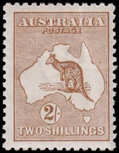 Australia Scott 52 (1916) Mint LH VF, CV $325.00 M