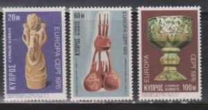 CYPRUS Scott # 445-7 MNH - Europa Issue