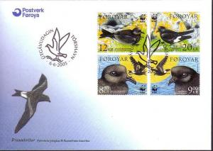 Faroe Is. Birds WWF Petrels FDC SG#479-482 MI#530-533 SC#458-461 SALE BELOW FACE