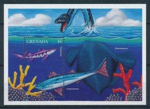 [106071] Grenada 1994 Prehistoric animals fish dinosaurs  MNH
