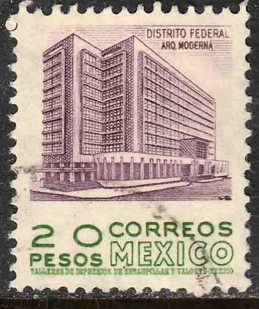 MEXICO 885, $20Pesos 1950 Definitive 2nd Printing wmk 300 USED. F-VF. (1416)