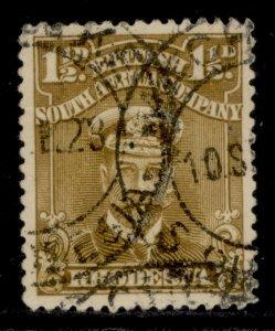 RHODESIA GV SG198, 1½d bistre-brown, FINE USED.