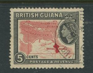 British Guiana - Scott 257 - QEII Definitive Issue -1954 - FU -Single 5c Stamp