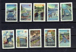 CANADA - 1998 CANALS - SCOTT 1725 TO 1734 - USED