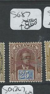 SARAWAK (P1401B) BROOKE 25C  SG 87    VFU