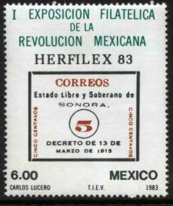 MEXICO 1311, Philatelic Exposition of Mexican Revolution. MINT, NH. F-VF.