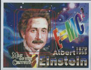 Lesotho 2000 Albert Einstein Stamp Souvenir Sheet  12E-032
