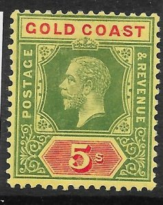 GOLD COAST SG82b 1913 GREEN & RED ON YELLOW - WHITE BACK MTD MINT