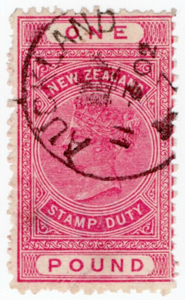(I.B) New Zealand Revenue : Stamp Duty £1 (SG F68)