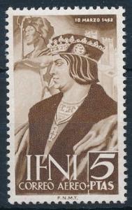 [67968] Spanish Colony IFNI 1952 King Ferdinand Airmail stamp  MNH
