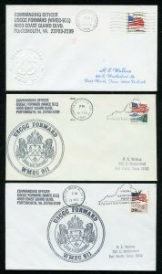 US USCGC FORWARD (WMEC-911) LOT OF 3  DIFFERENT COVERS 1991-1995 AS SHOWN (13)
